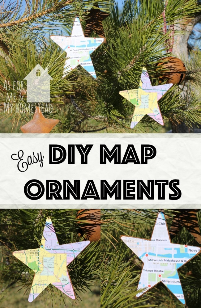 easy-diy-map-ornamentsEasy DIY Map Ornaments are a great way to commemorate a trip or remember a favorite place you've lived!