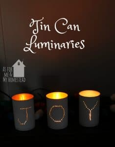 Joy Tin Can Luminaries