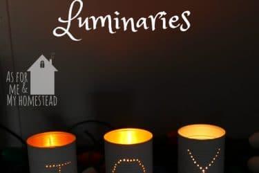 Joy Tin Can Luminaries