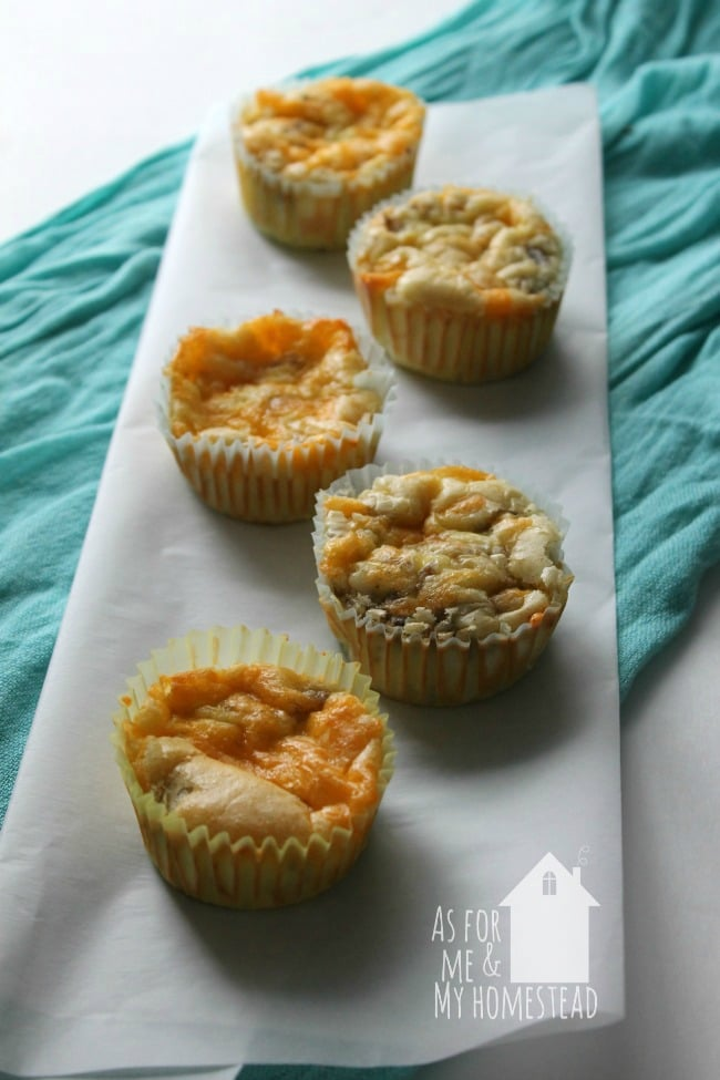 Breakfast Casserole Bites are great for breakfast on the go!