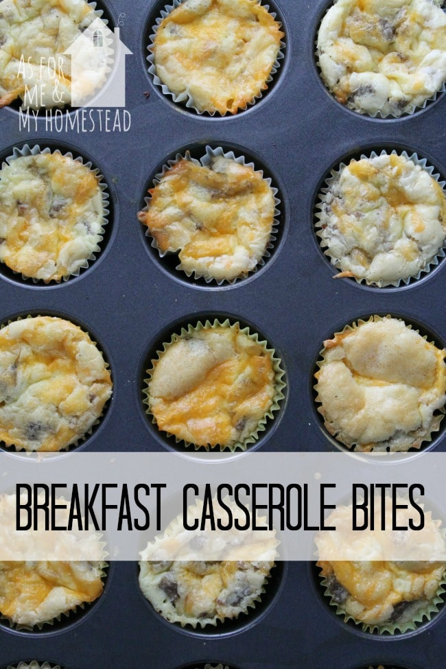 Breakfast Casserole Bites are great for breakfast on the go!