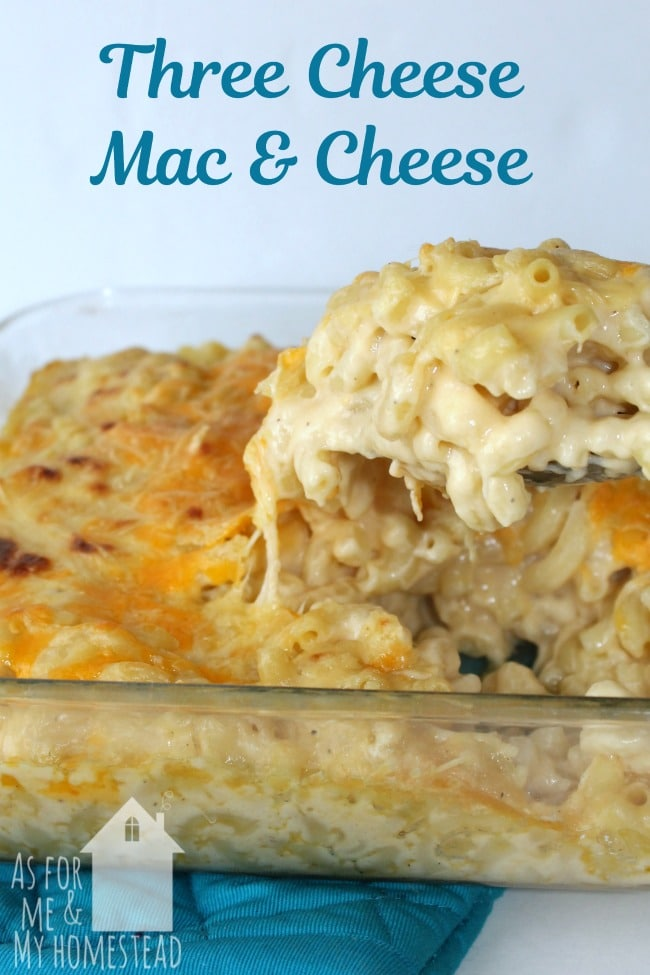 This Three Cheese Homemade Mac and Cheese is comfort food at its finest!