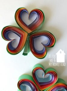 Rainbow Heart Clovers
