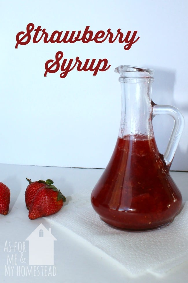 In just 20 minutes, you can have fresh homemade strawberry syrup to top your pancakes or your ice cream!