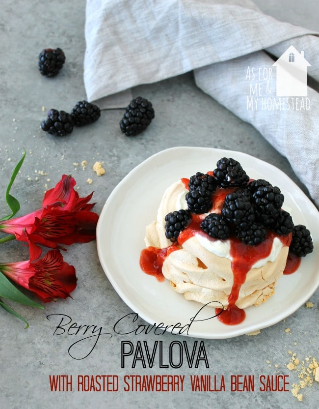 Elegantly beautiful Berry Covered Pavlova is a wonderful dessert recipe that will impress your guests, without being hard to make!