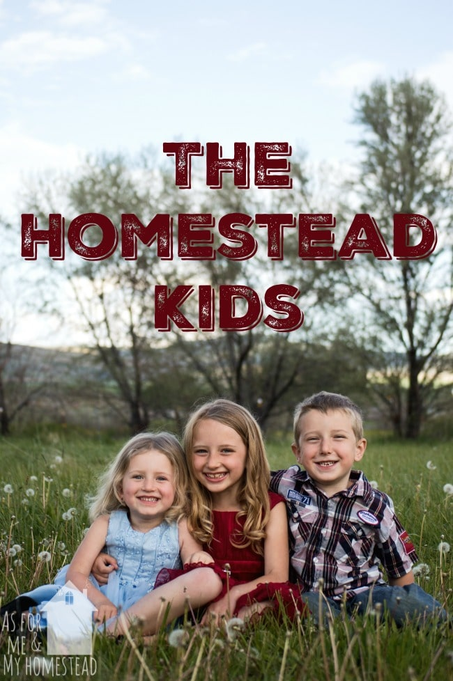 Learn about homesteading from the kids' perspective! Every Saturday, the kids blog!