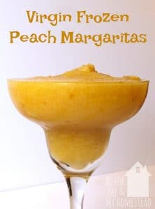 Virgin Frozen Peach Margaritas