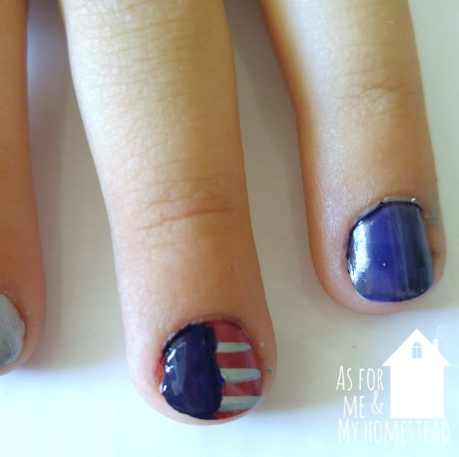 Easy DIY 4th of July Nails
