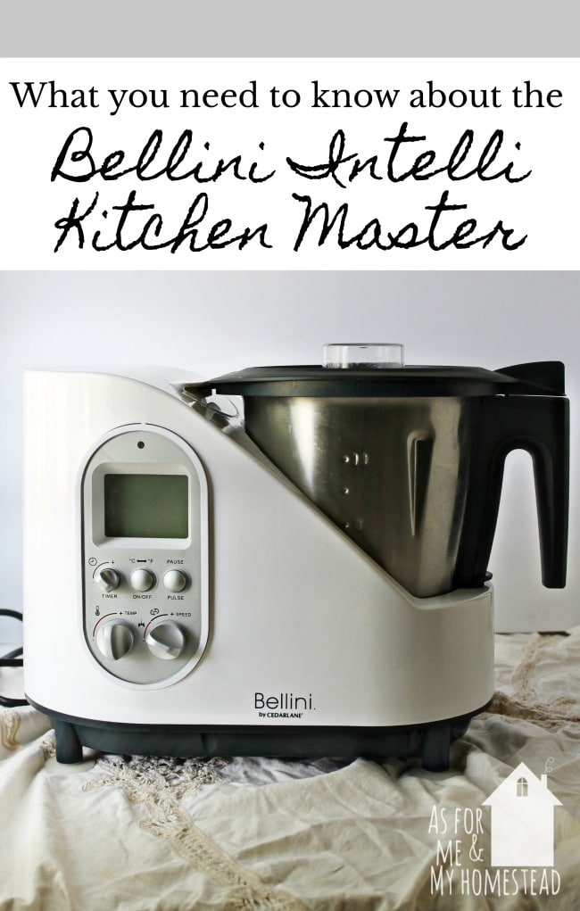 The Bellini Intelli Kitchen Master chops, cooks, blends, stirs, steams, fries, kneads, and more!