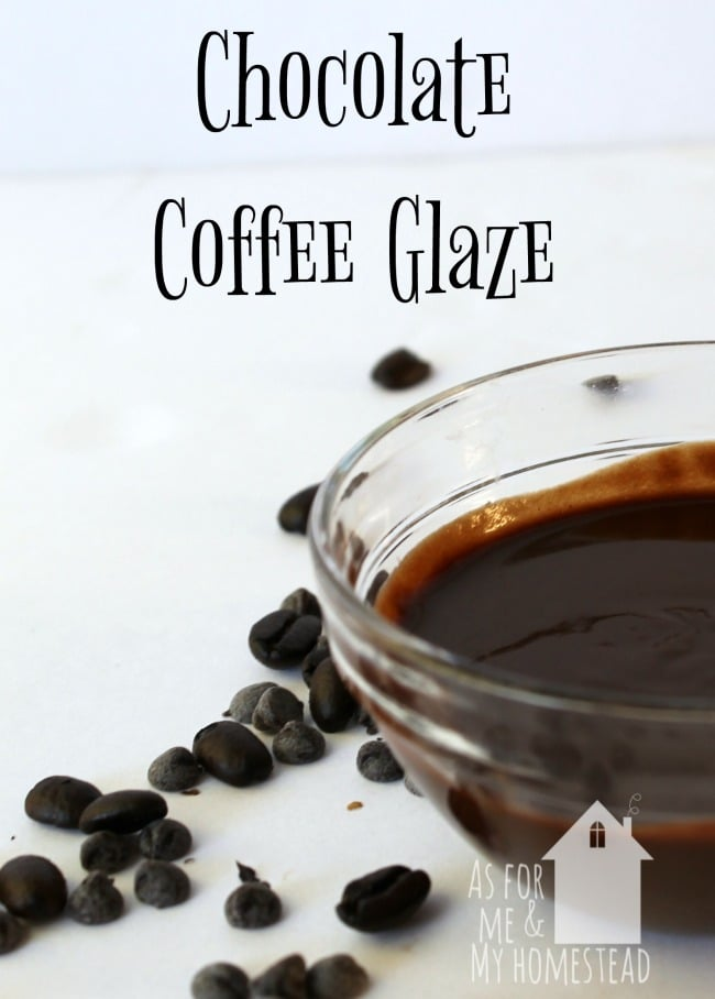 Coffee and chocolate collide in this delicious Chocolate Coffee Glaze, that's perfect for drizzling on all sorts of desserts!
