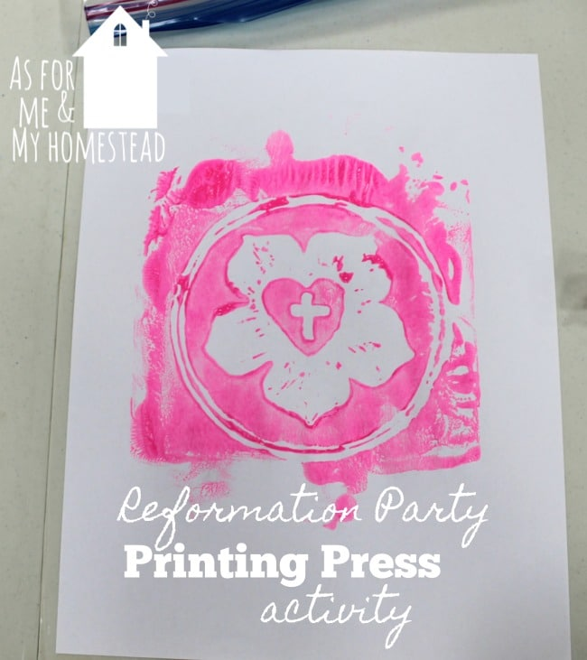 Printing Press Activity at Reformation Party