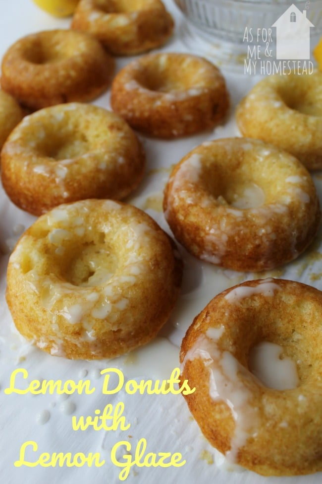 Lemon Donuts with Lemon Glaze are full of summery flavor. Sweet with just the right amount of lemony tartness, these baked doughnuts will hit the spot!