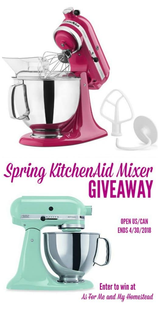 Kitchenaid mixer giveaway 2018