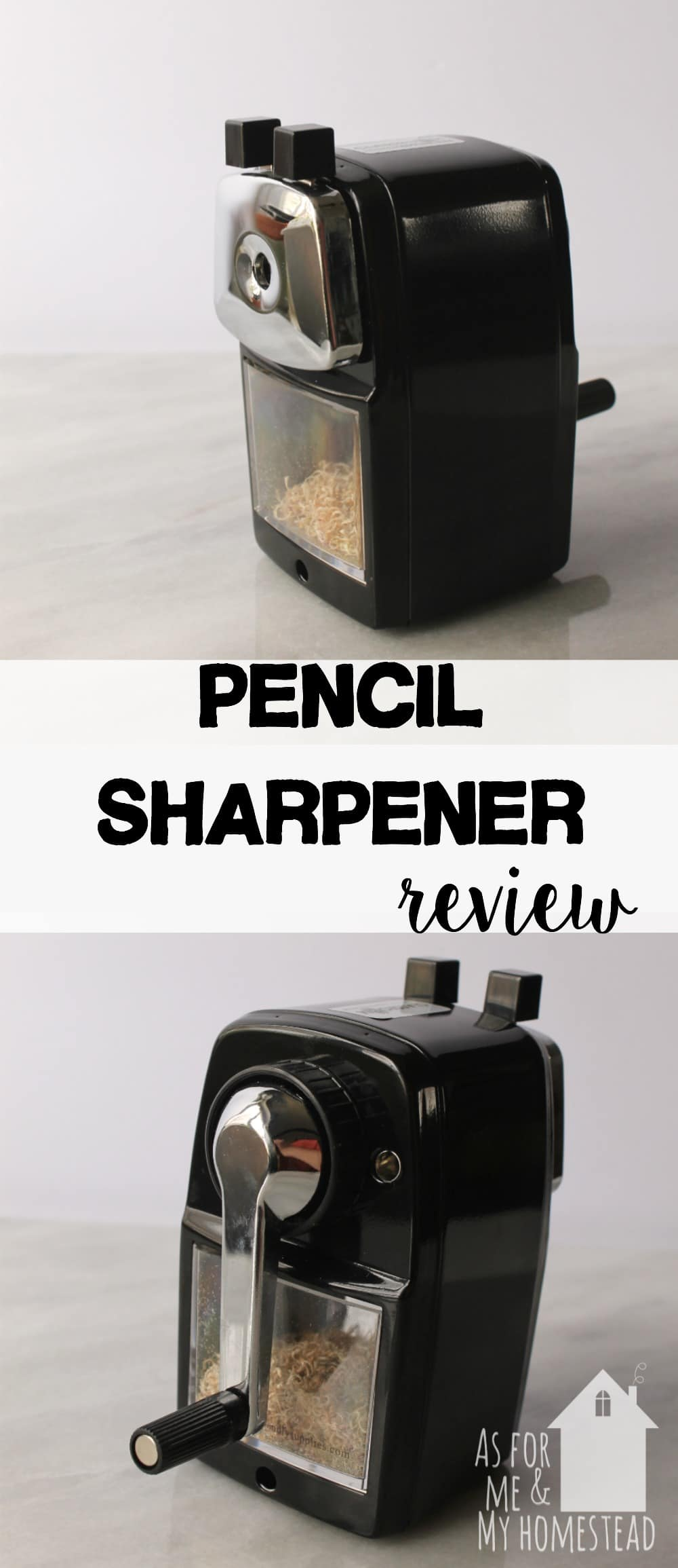 Looking for a well-built pencil sharpener for your homeschool? We put this pencil sharpener to the test -->> read my review!