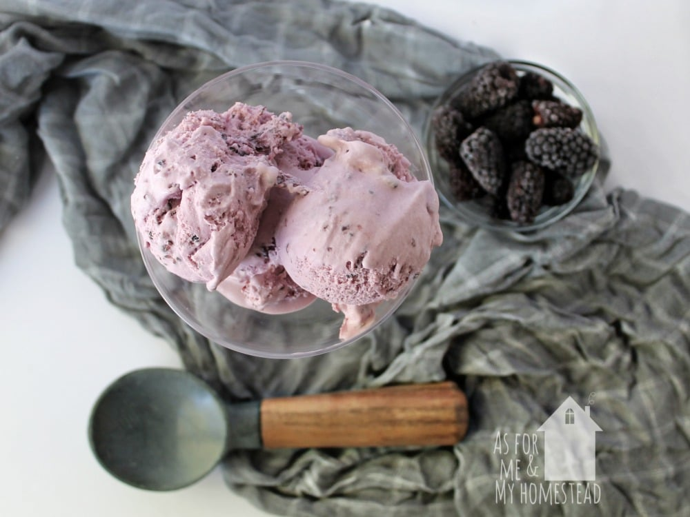 Smooth and creamy Blackberry Margarita Ice Cream puts your favorite adult beverage into a frozen treat!