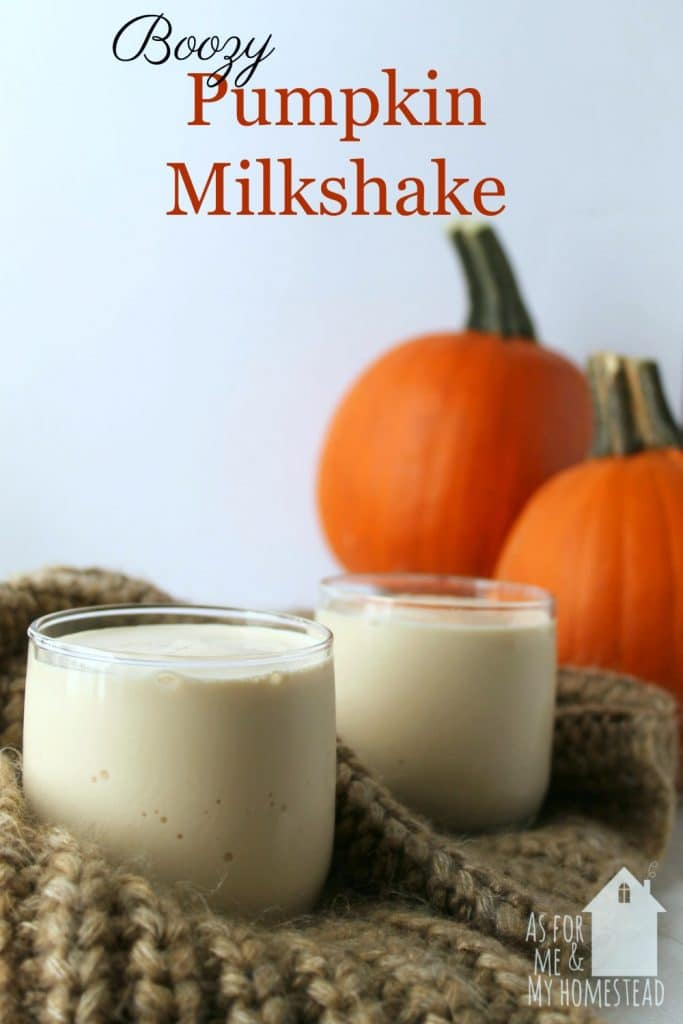 Sweet and creamy boozy pumpkin milkshake recipe is perfect for fall! A fun adult milkshake recipe that's perfect for the pumpkin spice lover!