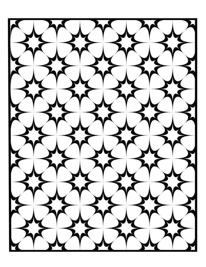 Geometric Art Coloring Pages