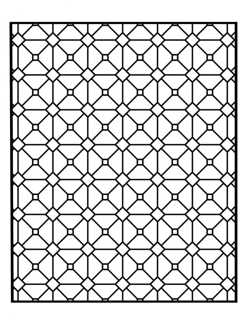 Geometric Design Colouring Pictures Stained Glass Colouring-Pages ... | 1024x791
