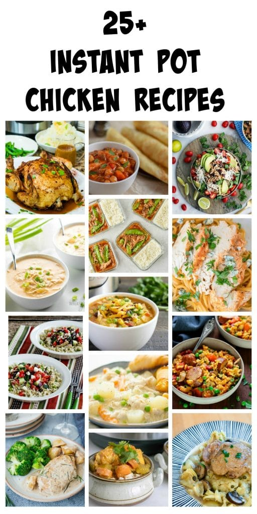 More than 25 delicious Instant Pot Chicken Recipes, plus a giveaway to win your own Instant Pot!