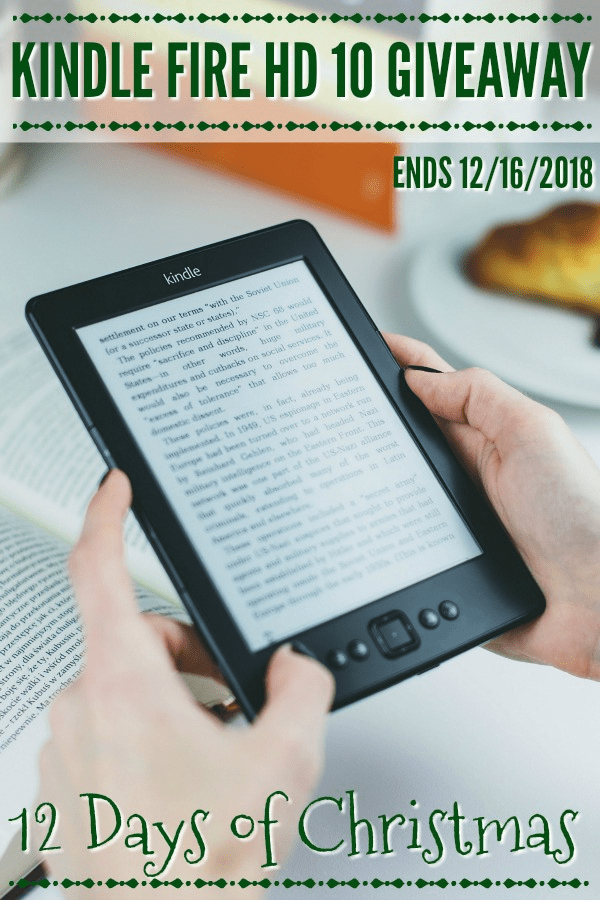 Click here for your chance to win in this Kindle Fire Giveaway! We're giving away a Kindle Fire HD 10 to one lucky winner!