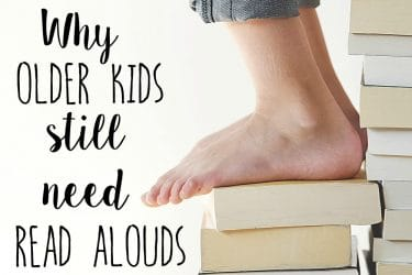Why Older Kids Still Need Read Alouds & a Giveaway