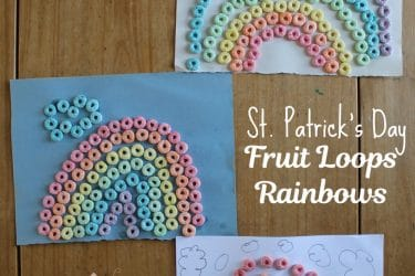 Fruit Loops Rainbows for St. Patrick's Day