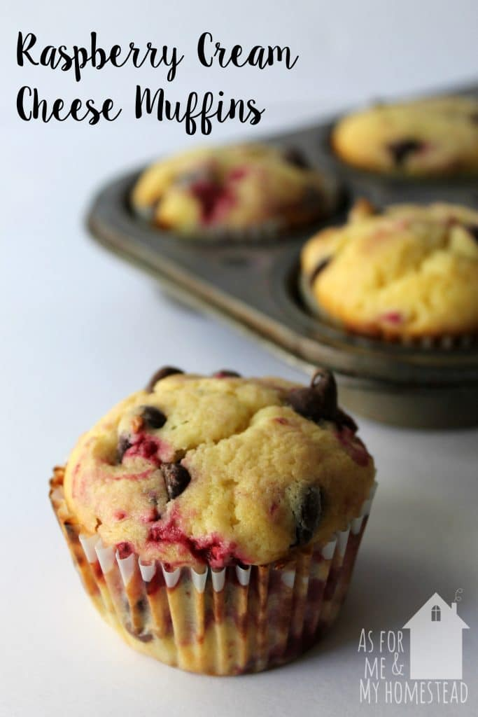Raspberries and cream cheese collide in these delicious Raspberry Cream Cheese Muffins, packed full of chocolate chips.