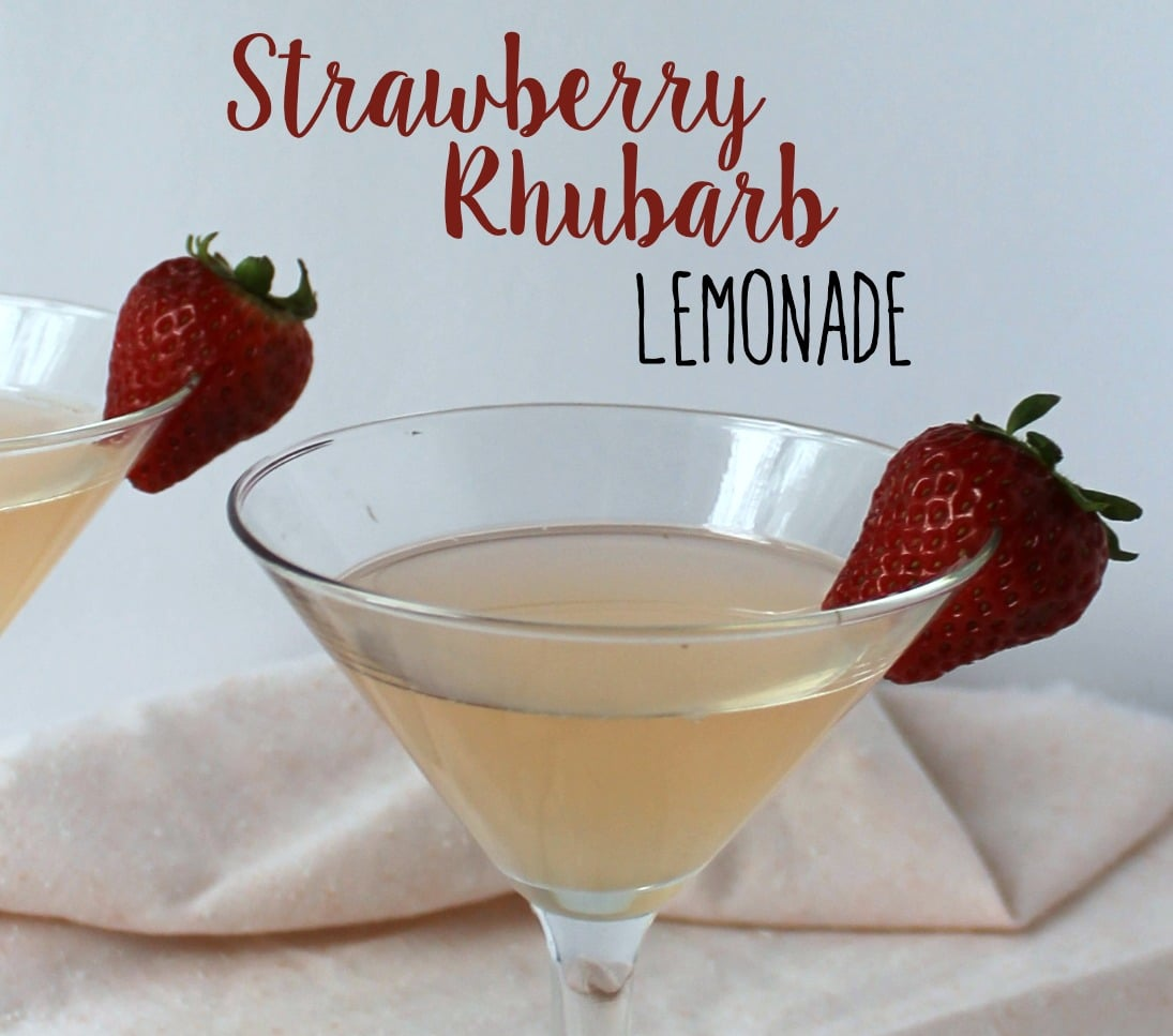 Made with fresh strawberry rhubarb simple syrup, this Strawberry Rhubarb Lemonade is a refreshing and fun twist on the classic drink.