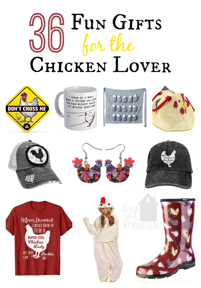 The gift guide for all things Crazy Chicken Lady.  You're sure to find the perfect gift for the chicken lover in your life here!