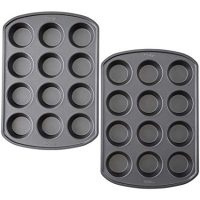 Wilton Non-Stick Bakeware 12-Cup Muffin Pan, Pack of 2