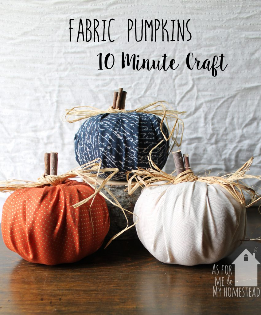In just 10 minutes, you can have adorable fall decor!  Quick, easy, and affordable Fabric Pumpkins are the perfect fall craft.