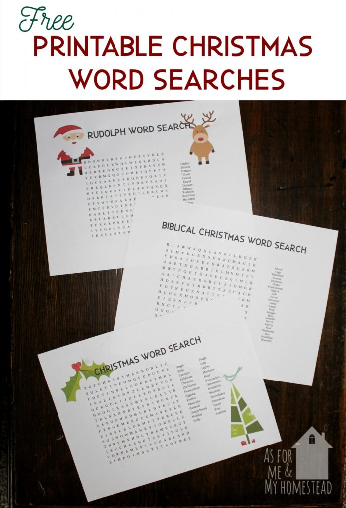 Christmas word search puzzles are a fun, educational holiday activity. Find 3 free Christmas word search printables here: Rudolph, Biblical Christmas, and generic Christmas.