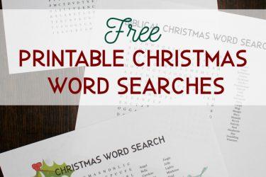 Christmas Word Search Printables