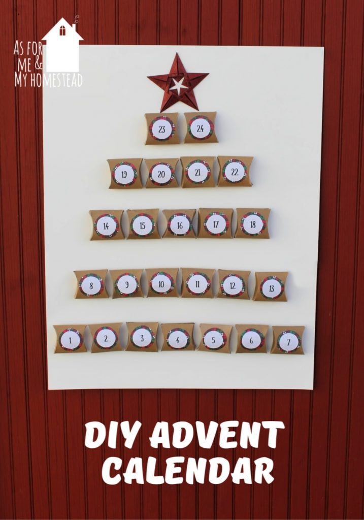 A fun, easy DIY Advent Calendar to count down the days until Christmas comes. Can be made from toilet paper rolls or cardstock.