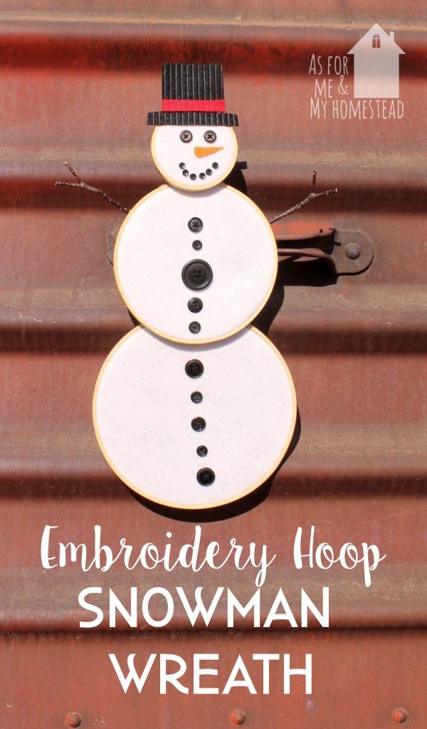 Embroidery Hoop Snowman Wreath As For Me And My Homestead