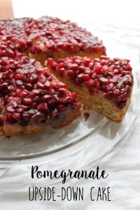 Pomegranate Upside-down Cake