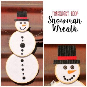 Embroidery Hoop Snowman Wreath