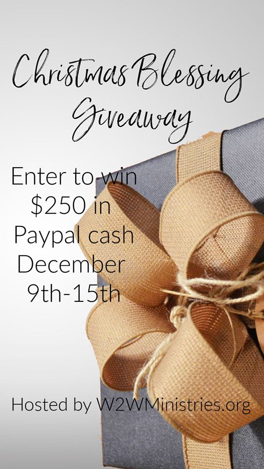 Enter for your chance to win $250 PayPal cash in the Christmas Blessings Giveaway!