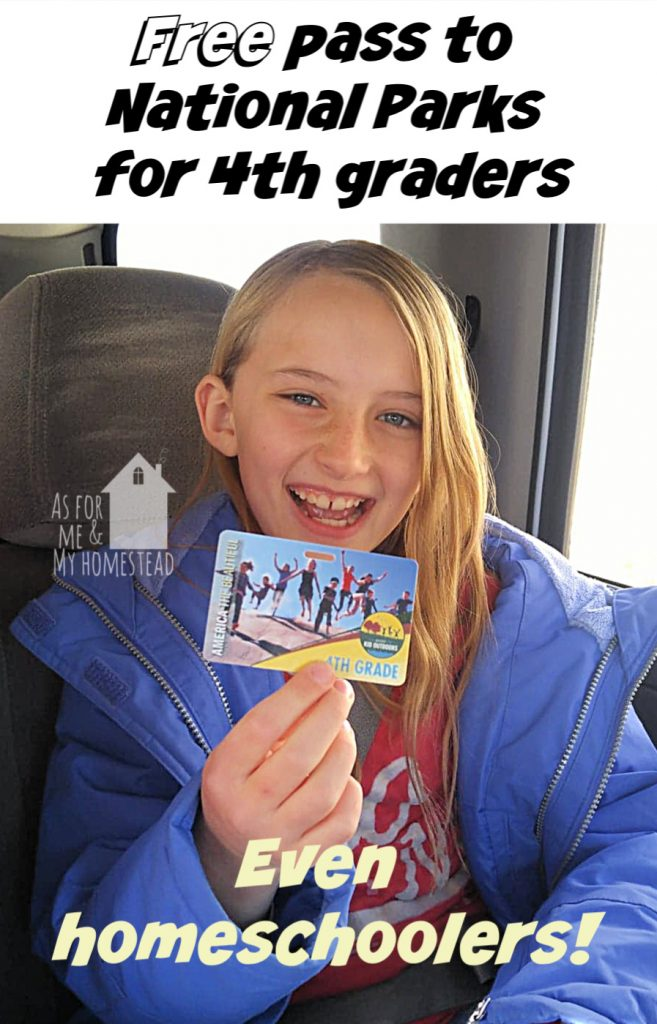 Did you know that your 4th grader is eligible for a free pass for the National Parks?  Through the Every Kid Outdoors program, every 4th grader in the US (including homeschooled kids) is eligible for a free pass!  Find out how to get it, here!