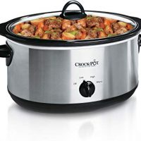 Crock-Pot 7-Quart Oval Manual Slow Cooker | Stainless Steel