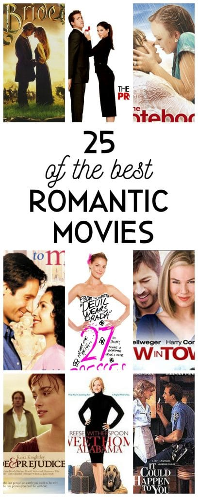 25 of the most Romantic Movies for Valentine's Day, or any day! The perfect romantic movies & romantic comedies to enjoy alone or with someone you love!