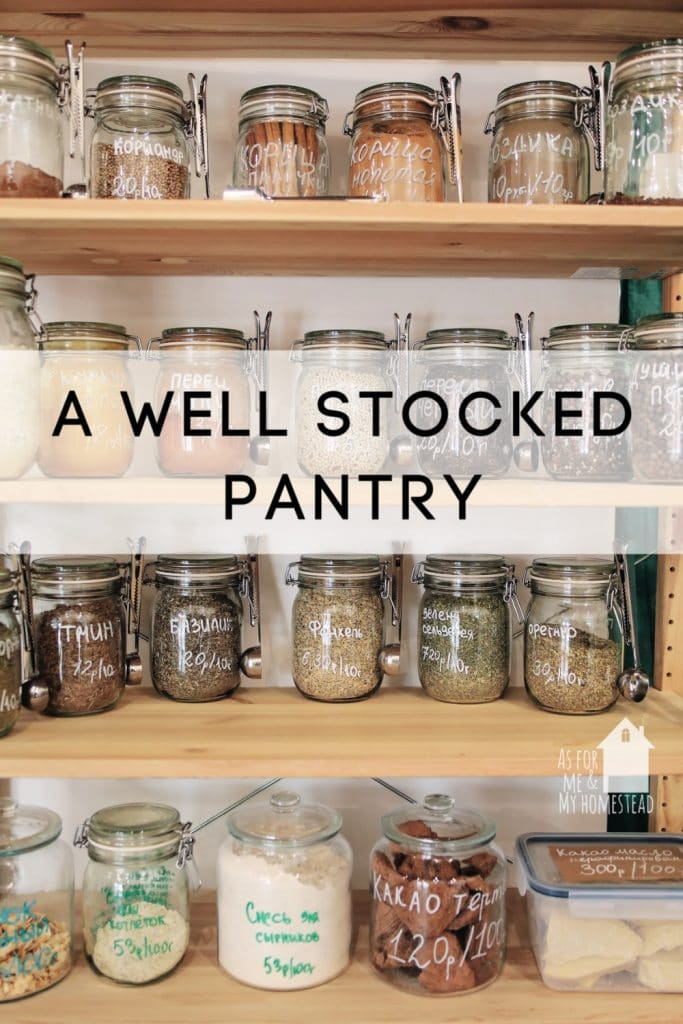 The recent events going on world-wide might have you wondering what a well stocked pantry looks like, and how to get there.