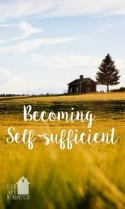 Becoming Self-sufficient