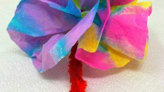 Tie Dye Coffee Filters Paper Flowers