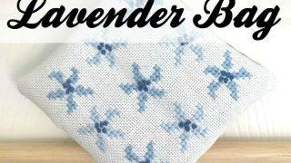 Cross Stitch Lavender Bag