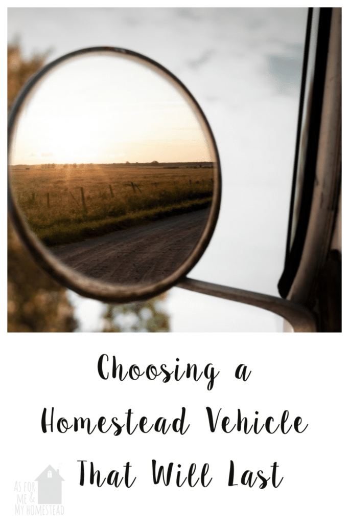 New to homesteading, and trying to figure out what vehicle you should buy?  Here are some important things to consider when choosing a homestead vehicle.