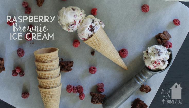 Raspberry Brownie Ice Cream