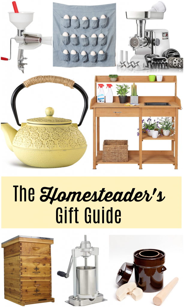 Gift Guide for the Homesteader: Find the most useful homestead gifts this holiday season. All sorts of practical gifts that will get so much use by your favorite homesteader!