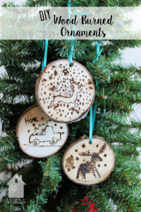 DIY Wood Burned Ornaments