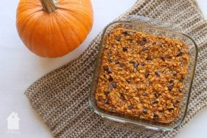 Pumpkin Chocolate Chip Baked Oatmeal